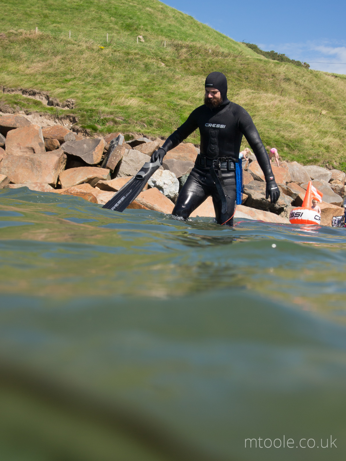 Spearfishing Aberdaron, Llyn Peninsula, Wales