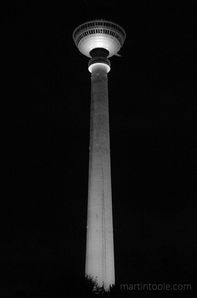 tall thing in berlin at night