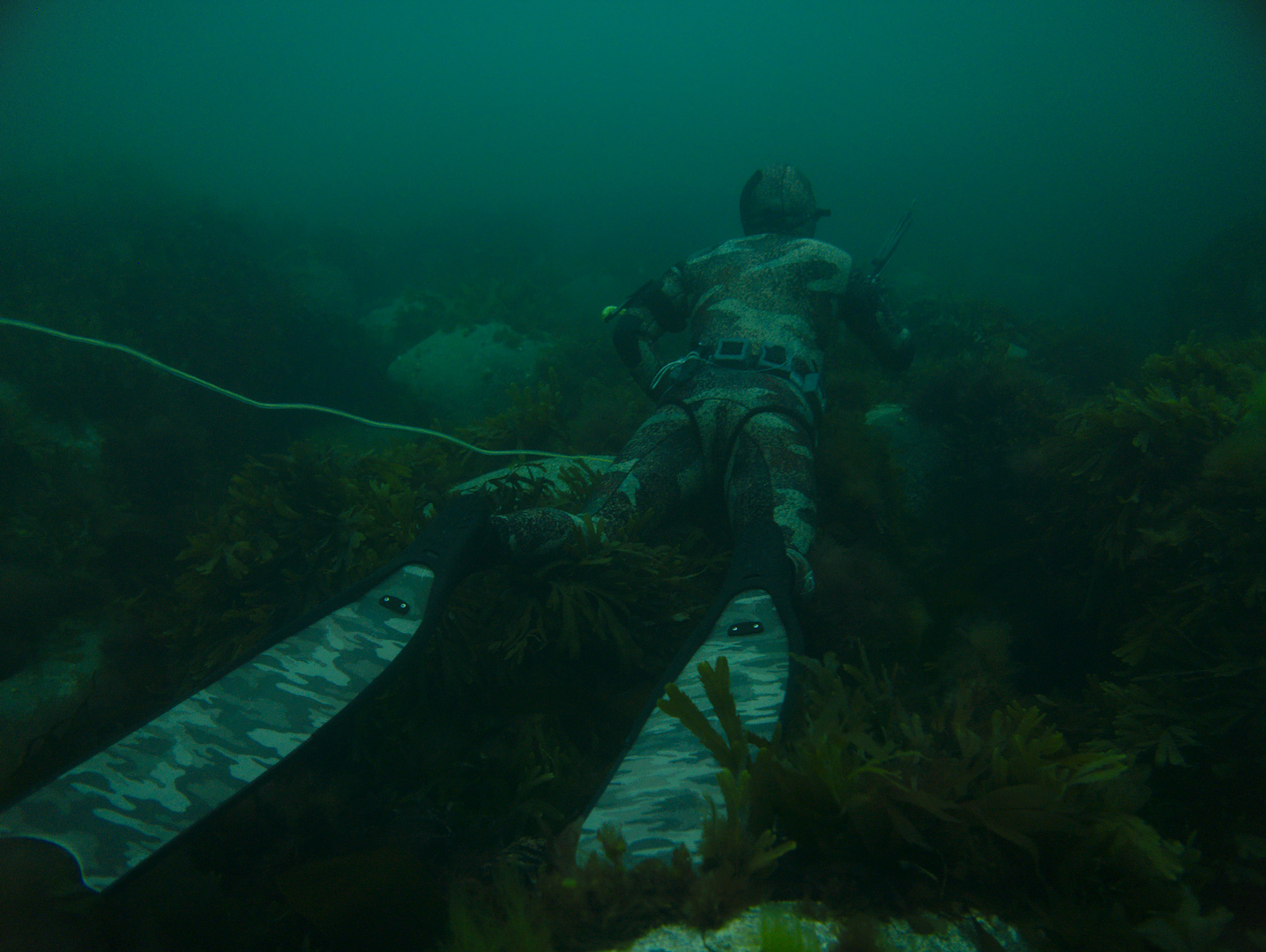 spearfishing underwater camouflage sea hunting