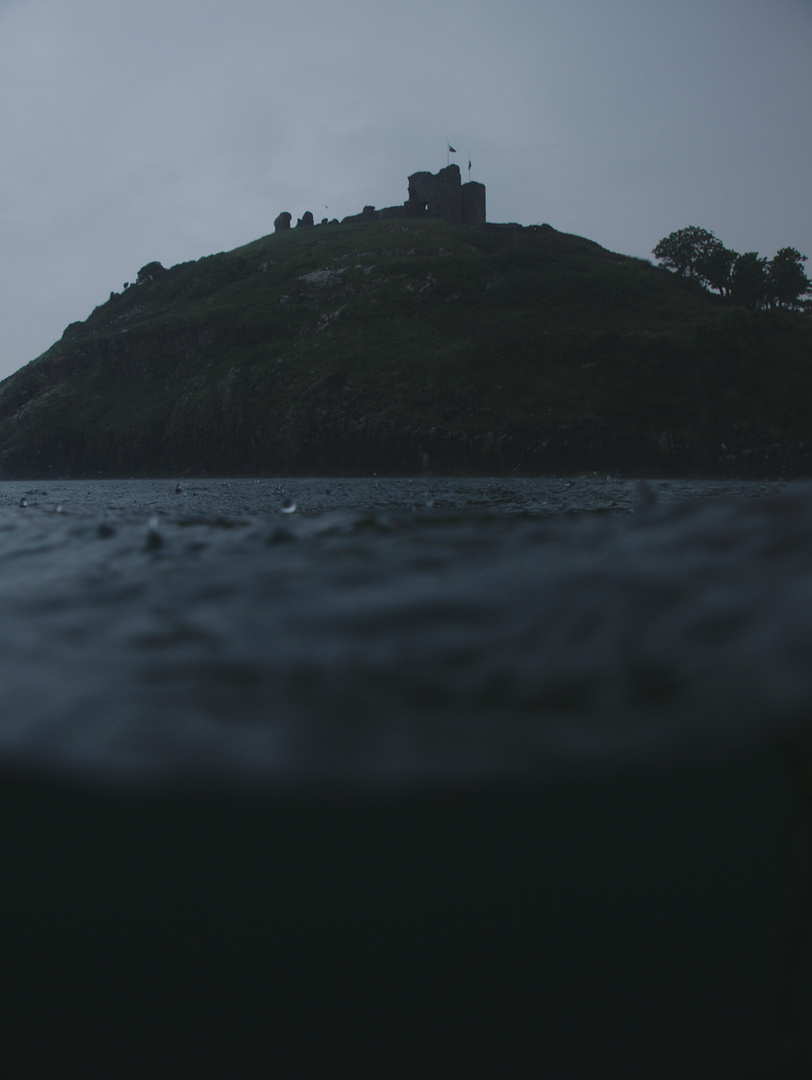 criccieth castle from the water
