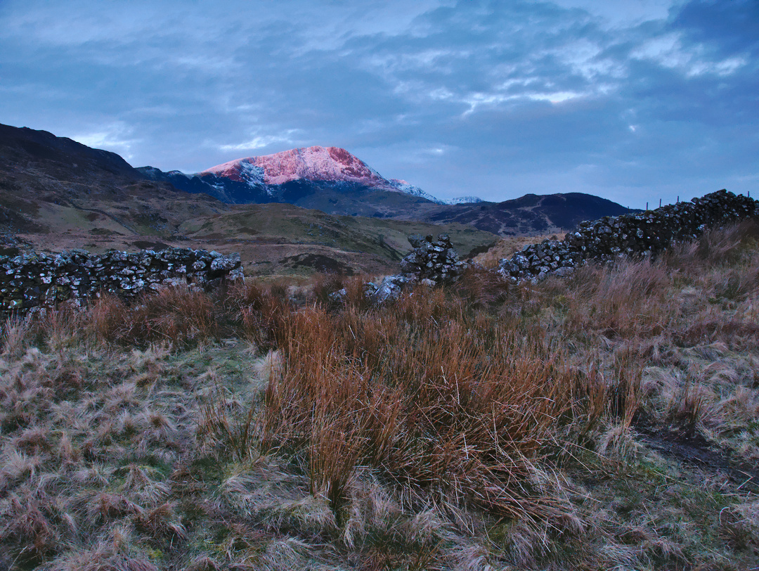 A Glowing Mynydd Moel At Sunrise, Snowdonia